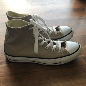 NEW Converse rare Tan high tops